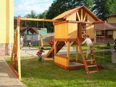 Большая детская площадка на даче