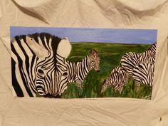 Acrylic painting  Six Zebras  www.harrisartstudio.com
