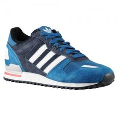 low priced 1a16a 6bd6a Sizes UK Adidas Originals ZX 700 Trainers Mens Tribe Blue Melange White  Legend Ink Style Code D65644 Colorways