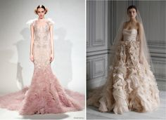 Color your wedding dress with shades of blush pink, mint green, and more for a totally fresh and romantic look. Description from beachweddinggallery.com. I searched for this on bing.com/images