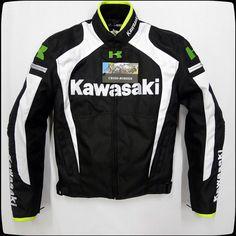 2015 waterproof  Oxford  KAWASAKI  Motorcycle jacket suits MOTO GP Motorcross Nascar jacket with removable 5pieces protect pads