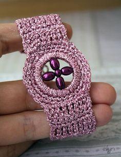 Náramky - Náramok Lila Temptation - 4269495_...crochet inspiration!