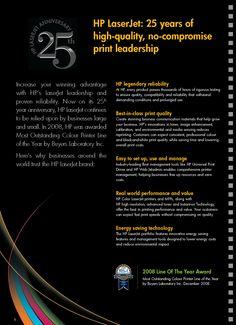 HP LaserJet - 25 years [Copywriting]