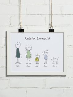 Plakat personalizowany- Nasza rodzina 30x40 cm - BonzooBox - Pozostałe