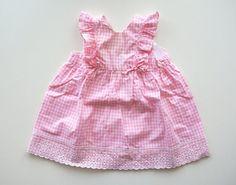 Vestito rosa per bambina vestito vintage estivo di RosaGeranio