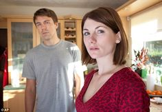 Moving on: Jodie Whittaker as Beth Latimer and Andrew Buchan as Mark Latimer in Broadchurc. Jodie Whittaker Broadchurch, Andrew Buchan, Detective, Tv Series 2013, Video Trailer, Bbc America, David Tennant, Best Tv Shows, Cut And Color