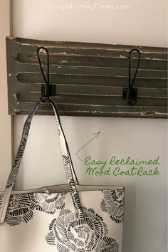 We added storage and antique charm to our mudroom with this easy affordable project. Our DIY Reclaimed Wood Coat rack was a quick and simple project and cost only $20 each! Instant charm and storage on a budget.