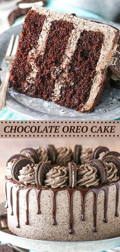 This Chocolate Oreo Cake recipe is to die for! A moist chocolate cake full of Oreo icing! And not just any Oreo icing – it is FULL of crushed up Oreos. An Oreo lover's dream.