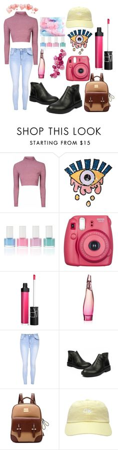 """""""Untitled #585"""" by cashtonlv on Polyvore featuring Glamorous, Cotton Candy, Fujifilm, NARS Cosmetics and Donna Karan"""