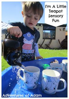 I'm A Little TeaPot Nursery Rhyme Teabag Sensory Fun | http://adventuresofadam.co.uk/teabag-sensory-fun/