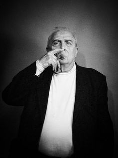 Claude Chabrol (1930-2010) - French film director, member of the French New Wave group. Photo by Philippe Quaisse