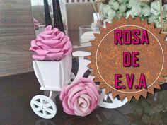 Como fazer : Rosa de EVA (Passo a passo)