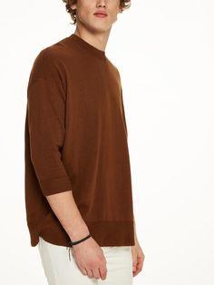 SCOTCH & SODA 3/4 Sleeve Cotton-Cashmere Sweater. #scotchsoda #cloth #