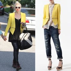 Zara Yellow Fantasy Tweed Zip Blazer. Zara Yellow Fantasy Tweed Zip Blazer. This is THE blogger favorite! I love, love, love everything about this blazer, but I haven't worn it in some time. Functional waist zipper; zippers at wrist; fully lined. The lining has holes in shoulders to remove the shoulder pads as they were too bulky. Zara Jackets & Coats Blazers