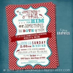 Coed Wedding Shower Invitations correctly perfect ideas for your invitation layout