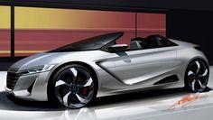 Honda S660 Concept - Design Sketch