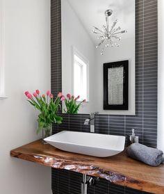 Contoured Wood In Modern Bathroom | The Best Wood Furniture