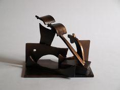 """Latitude"" by Jimmy Rix Bookends, Craft Ideas, Diy Crafts, Sculpture, Metal, Home Decor, Art, Art Background, Decoration Home"