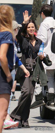 Lana Parrilla on set (July 17, 2015)