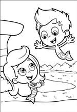 Kids-n-fun | 25 coloring pages of Bubble Guppies