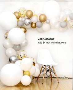 Achieve a sophisticated look to your party with TOKYO SATURDAY party balloon gar. - Life with Alyda Party Garland, Balloon Garland, Balloon Decorations, Garland Ideas, Balloon Ideas, Birthday Decorations, Pastel Balloons, White Balloons, Arch Decoration