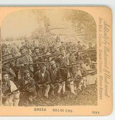 Greek Turkey War Dated 1897 Greek Soldiers Greece D Greek Independence, Greek Turkey, Greek Soldier, Greek Warrior, Greek History, In Ancient Times, Crete, Military History, Ottawa