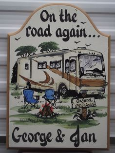 CAMPING SIGNS-personalized-class a-motorhome- rv signs