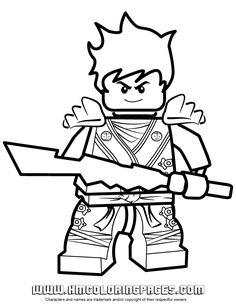 Ninjago Kai KX In Elemental Robe Coloring Page | Free Printable ...
