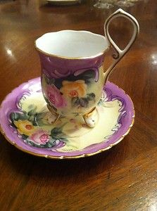 Footed Flora Tea Cup and Saucer https://www.pinterest.com/lahana/mugs-cups-and-drinkware/