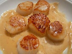 35 Ideas for seafood stew scallops Healthy Christmas Recipes, Healthy Dinner Recipes, Appetizer Recipes, Sauce Recipes, Fish Recipes, Seafood Rice Recipe, Cooking Time, Cooking Recipes, Coquille Saint Jacques