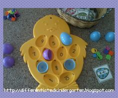 subtraction printables to use with these cute egg plates