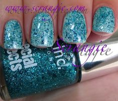 White polish glitter top coat