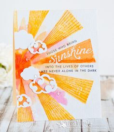Those Who Bring Sunshine Card by Betsy Veldman for Papertrey Ink (February 2017)