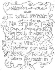 Todays Coloring Page It Has Been Awhile Since I Shared A Scripture With You Dont Know How Time Gets Away From Me So