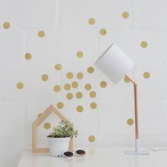 Superbalist Wall Decals - Gold Polka Dot Wall Decal Set of 40 Polka Dot Walls, Polka Dot Wall Decals, Gold Polka Dots, Gold Set, Art Decor, Home Decor, Shapes, Wall Art, Creative