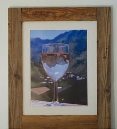 A fantastic print from Jemima Design capturing the perfect combination of 'les montagnes' with a glass of wine! Set beautifully in our handcrafted rustic wood frame this unique piece of artwork will add French mountain charm to any dining area or living space.
