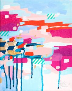 Contemporary/Other - Asking for Directions, Original Painting by Emily Rickard