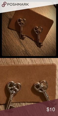 Peace keys to my heart studs Peace keys to my heart studs Jewelry Earrings