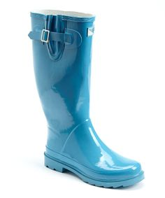 Forever Young Inc. Turquoise Pull-On Rain Boot by Forever Young Inc. #zulily #zulilyfinds