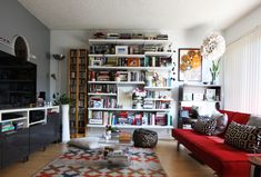 How Real People Do Bookshelf Styling - Jest Cafe
