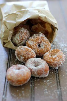 mini sugar donuts