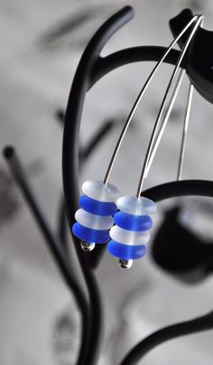 Cobalt Sky Earrings by DeniseDion on Etsy, $10.00