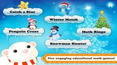 Perfect math practice app for the days before winter break! Educational, theme-based fun!