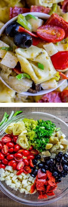 Italian Tortellini and Pepperoni Pasta Salad from The Food Charlatan. A classic Italian pasta salad, made with cheese-filled tortellini, tons of pepperoni, Parmesan, olives, cherry tomatoes, and more. A very simple balsamic dressing pulls it all together. It's so delicious! Perfect side dish for a potluck or BBQ!