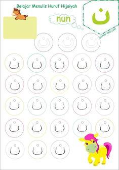 Belajar Menulis Huruf Hijaiyah untuk Anak | Portal-Ilmu.com Tracing Worksheets, Portal, Diagram, Map, Words, Maps, Horse
