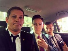 James Sutton Keith Rice & Charlie Wernham before filming Finn's Trial for Rape #TopStoryline @thejamessutton @KeithRice10 @charliewernham #Hollyoaks