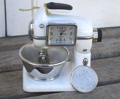 Vintage Timex Collectible Miniature Mixer Quartz WORKING Clock, New Battery, Miniature Clock Collection. $35.00, via Etsy.