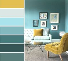 Picture outcome for mustard yellow teal bed room color schemes – room Teal Bedroom, Leather Living Room Set, Living Room Color Schemes, Dining Room Colors, Teal Rooms, Living Room Decor Apartment, Bedroom Colors, Bedroom Color Schemes, Living Room Leather