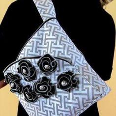 DIY de bolso elegante con flores de cremalleras New Year Gifts, Weaving, Brooch, Tote Bag, Diy Bags, Origami, Ideas, Fashion, Tejido