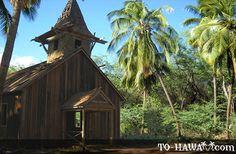 Old wooden church at Keomoku - Lanai, Hawaii